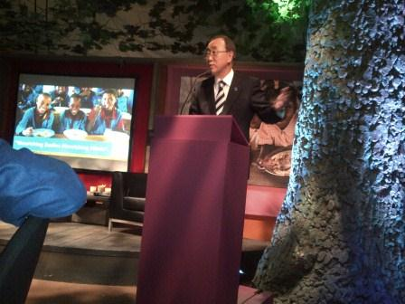 Ban Ki-moon at WFP Dinner in Davos
