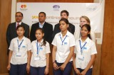 Flickr Photo: MasterCard's Mr. TV Seshadri and Ms. Patricia Devereux with IYF CCFID members and youth beneficiaries at the Young Entrepreneurs launch event