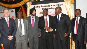 Flickr Photo: Ajay Banga, President and CEO Poses with Officials from Equity Bank Group