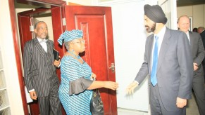 Flickr Photo: Ajay Banga with Nigerian Finance Minister and Central Bank Governor